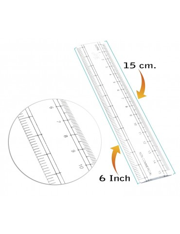 """Scale 6"""" Plastic (Pack Of 10)"""